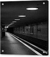 Unter Der Linden Ghost Station U-bahn Station Berlin Germany Acrylic Print by Joe Fox