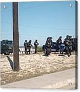 Us Army Swat Team Approaching Acrylic Print by Everett