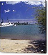 U.s. Coast Guard Cutter Jarvis Transits Acrylic Print by Michael Wood