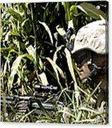 U.s. Marine Maintains Security Acrylic Print by Stocktrek Images