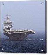 Uss Enterprise In The Arabian Sea Acrylic Print by Gert Kromhout