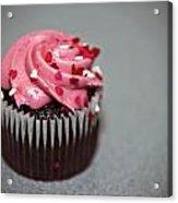 Valentines Cupcake Acrylic Print by Malania Hammer