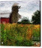 Van Gogh At The Barn Acrylic Print by David Bearden