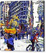 Van Gogh Occupies San Francisco . 7d9733 Acrylic Print by Wingsdomain Art and Photography
