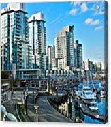 Vancouver Harbour Acrylic Print by Kamil Swiatek