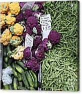 Variety Of Fresh Vegetables - 5d17900-long Acrylic Print by Wingsdomain Art and Photography