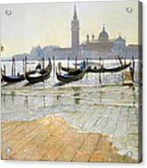 Venice At Dawn Acrylic Print by Timothy Easton