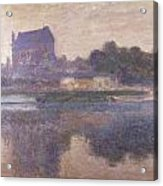 Vernon Church In Fog Acrylic Print by Claude Monet