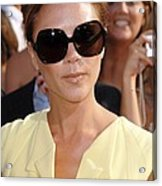 Victoria Beckham At Arrivals Acrylic Print by Everett