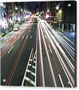 View Of Traffic At Nihonbashi, Tokyo, Japan Acrylic Print by Billy Jackson Photography