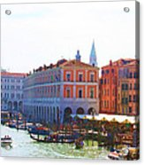 View Of Venice's Market Acrylic Print by Christiane Kingsley