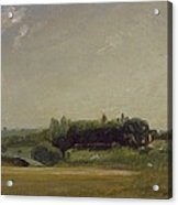 View Towards The Rectory - East Bergholt Acrylic Print by John Constable