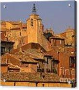Village De Roussillon. Luberon Acrylic Print by Bernard Jaubert