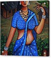 Village Girl Acrylic Print by Johnson Moya