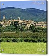 Village Of Lourmarin. Luberon. Vaucluse Acrylic Print by Bernard Jaubert