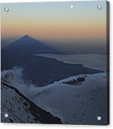 Villarrica, Summit View With Shadow Acrylic Print by Martin Rietze