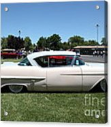 Vintage 1957 Cadillac . 5d16686 Acrylic Print by Wingsdomain Art and Photography