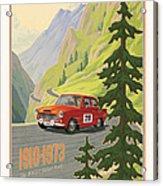 Vintage Austrian Rally Poster Acrylic Print by Mitch Frey
