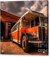 Vintage Bus  Acrylic Print by Rob Hawkins