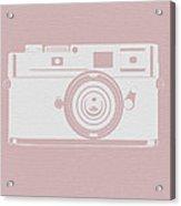 Vintage Camera Poster Acrylic Print by Naxart Studio