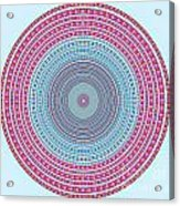 Vintage Color Circle Acrylic Print by Atiketta Sangasaeng