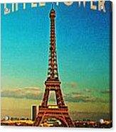 Vintage Eiffel Tower Acrylic Print by Flo Karp