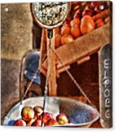 Vintage Scale At Fruitstand Acrylic Print by Jill Battaglia