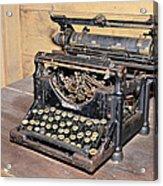 Vintage Typewriter Acrylic Print by Susan Leggett