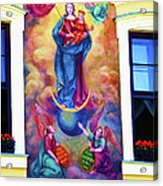 Virgin Mary Mural Acrylic Print by Mariola Bitner