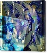 Virtual Kiss 1 Acrylic Print by Paulo Zerbato
