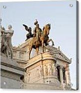 Vittoriano. Monument To Victor Emmanuel II. Rome Acrylic Print by Bernard Jaubert