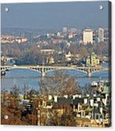 Vltava River In Prague - Tricky Laziness Acrylic Print by Christine Till