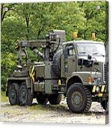 Volvo N10 Truck Crane Of The Belgian Acrylic Print by Luc De Jaeger