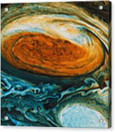 Voyagers View Of The Great Red Spot, An Acrylic Print by Nasa