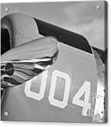 Vultee Bt-13 Valiant In Bw Acrylic Print by Lynda Dawson-Youngclaus