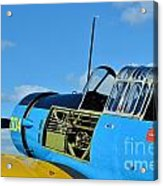 Vultee Bt-13 Valiant  Acrylic Print by Lynda Dawson-Youngclaus