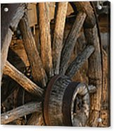 Wagon Wheel On Covered Wagon At Bar 10 Acrylic Print by Todd Gipstein