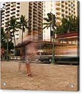 Waikiki Blur Acrylic Print by Ashlee Meyer