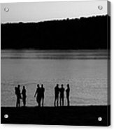 Waiting For Sunrise Acrylic Print by Carol Hathaway