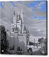 Walt Disney World - Cinderella Castle Acrylic Print by AK Photography