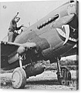 Warhawk P40 1943 Acrylic Print by Padre Art