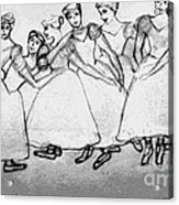 Warming Up - The Ballet Chorus Acrylic Print by Forartsake Studio