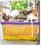 Waste Skip Acrylic Print by Tom Gowanlock