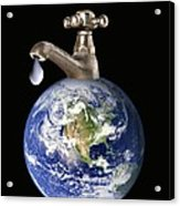 Water Conservation, Conceptual Image Acrylic Print by Victor De Schwanberg