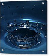 Water Drop Impact Acrylic Print by Linda Wright