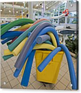 Water Noodles At A Public Swimming Pool Acrylic Print by Marlene Ford