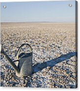 Water Pail On Dried Mud Acrylic Print by Thom Gourley/Flatbread Images, LLC