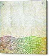 Water Pattern On Old Paper Acrylic Print by Setsiri Silapasuwanchai