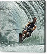 Water Skiing Magic Of Water 10 Acrylic Print by Bob Christopher