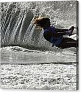 Water Skiing Magic Of Water 12 Acrylic Print by Bob Christopher